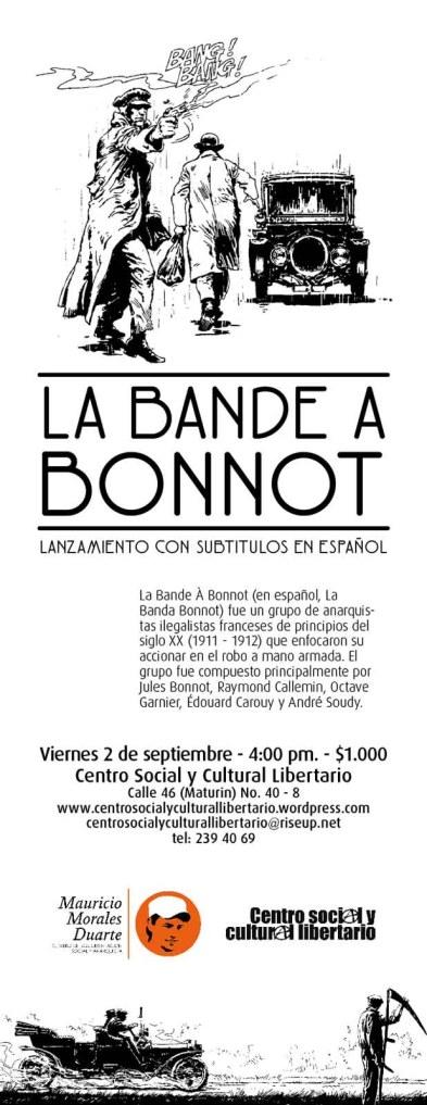 Volante Lanzamiento La Bande À Bonnot