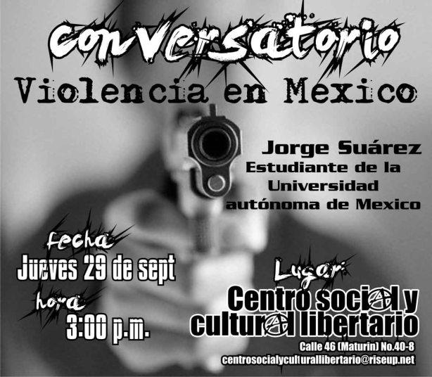 Volante Conversatorio Violencia en México