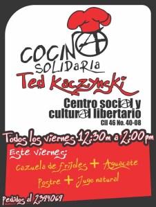 Volante Viernes 4 de noviembre de Cocina Solidaria