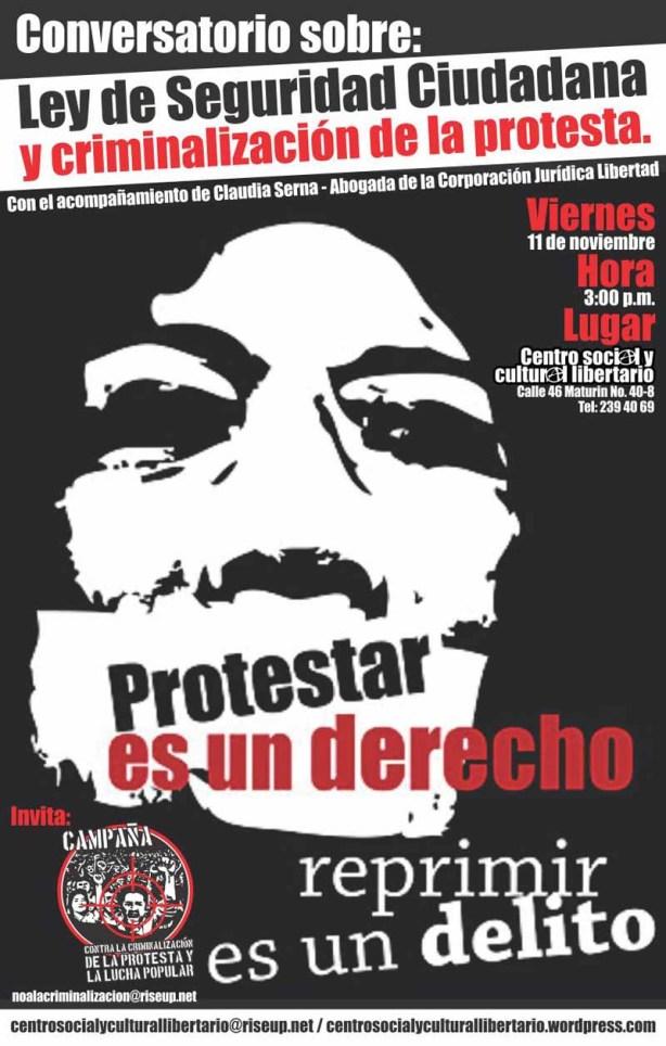 Volante Conversatorio: Ley de Seguridad Ciudadana y Criminalización de la Protesta